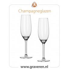 Champagneglazen (set  van 2 stuks)