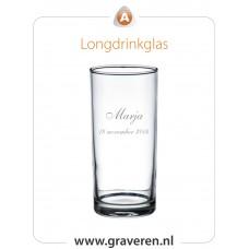 Longdrinkglas met eigen tekst